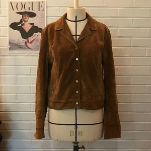 Free People Suede Leather Jacket